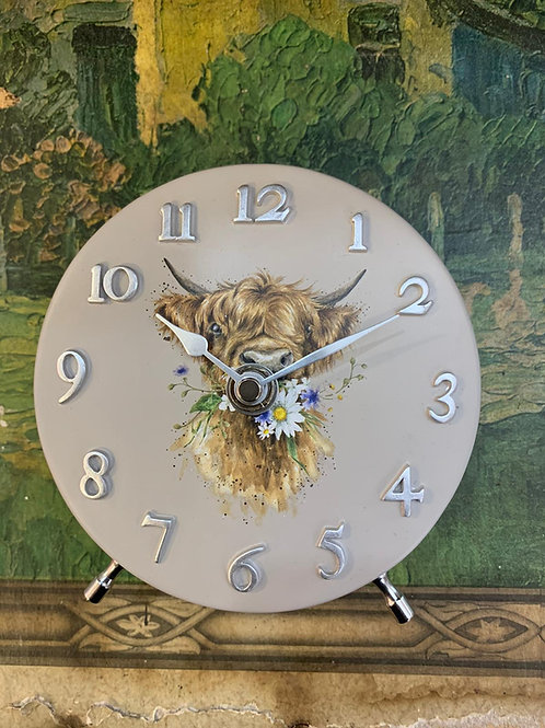 wrendale designs mantel clock cow front view Free delivery from the flower shop kirton