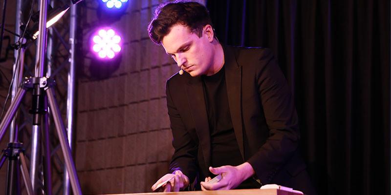 Matt Tarrant doing a card trick