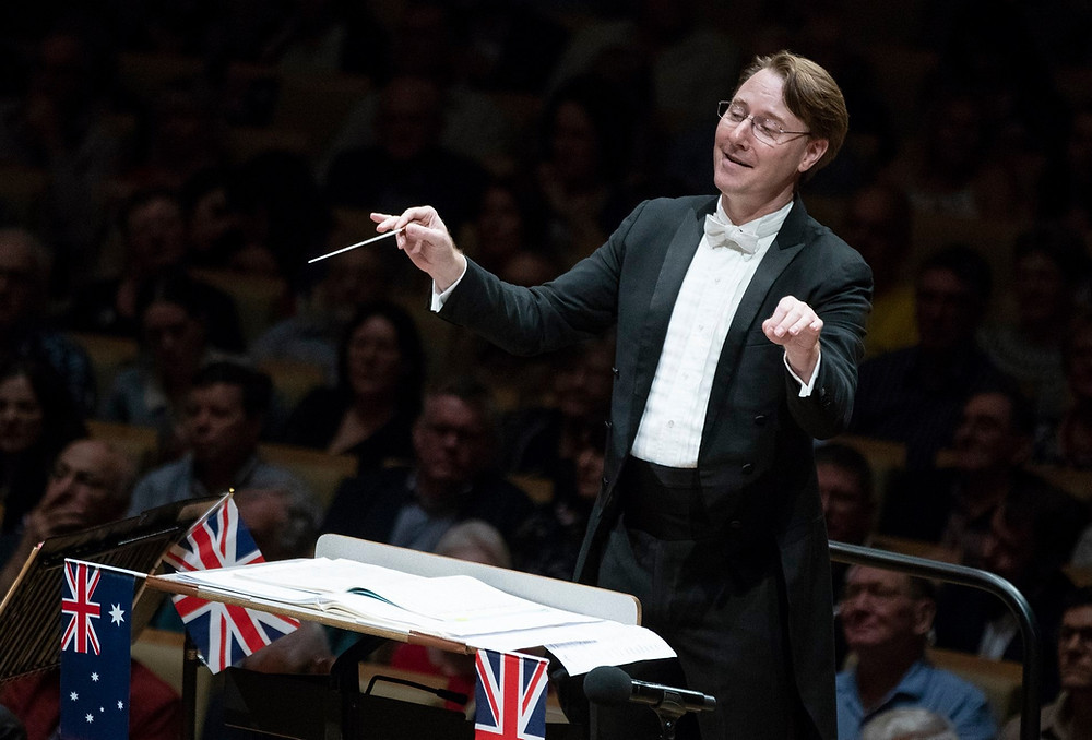 Conductor at QSO's Last Night of the Proms