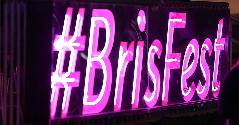 Image of #BrisFest neon sign