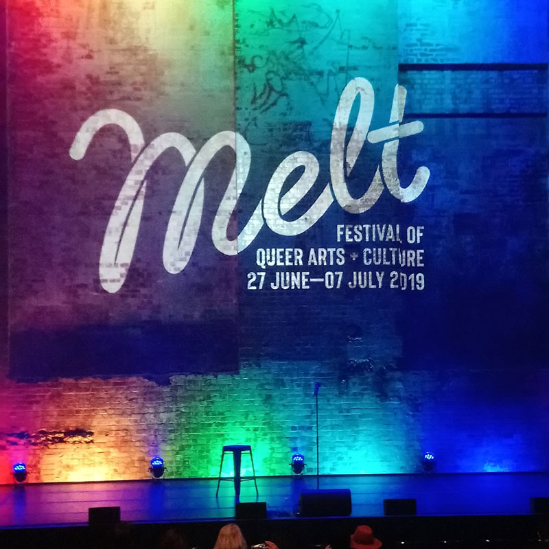 Melt Comedy Gala 2019 Stage Backdrop