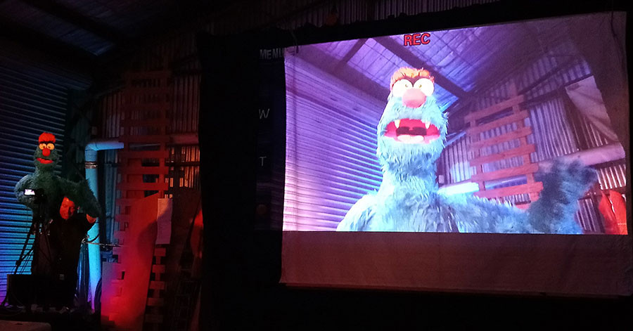 Troggg the puppet in Show of Hands