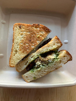 israeli grilled cheese Fried Eggplant, F