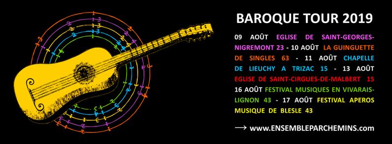 Ensemble Parchemins Baroque Tour 2019