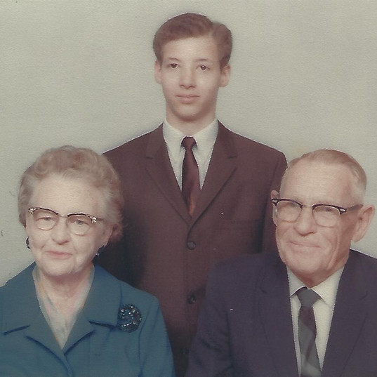 Grandparents and Michael sophomore in hi