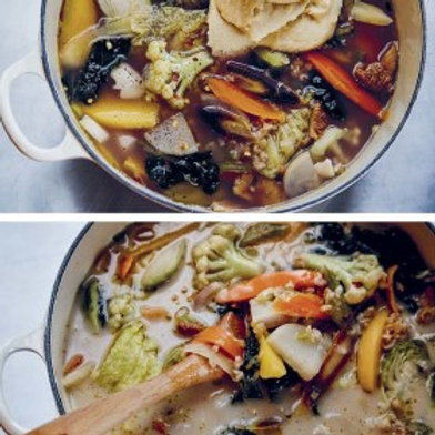 Celery Root, Cracked Wheat, and Every-Fall-Vegetable-You-Can-Find Chowder