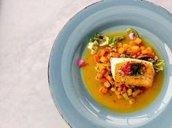 Black Cod, root vegetable hash, saffron fume' #instagram #instagood #food #foodporn #foodie #chefsof