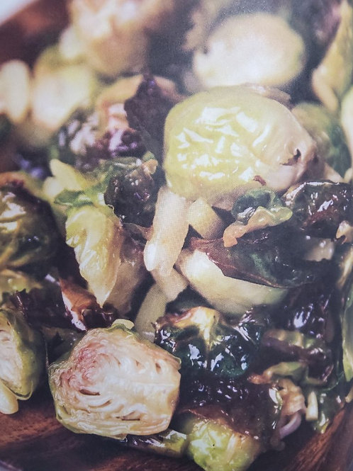 MACADAMIA-ROASTED BRUSSELS SPROUTS