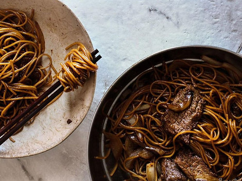Beef & Onion Soy Sauce Noodles
