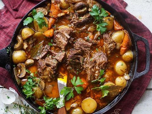 Skillet Beef Short Rib Pot Roast