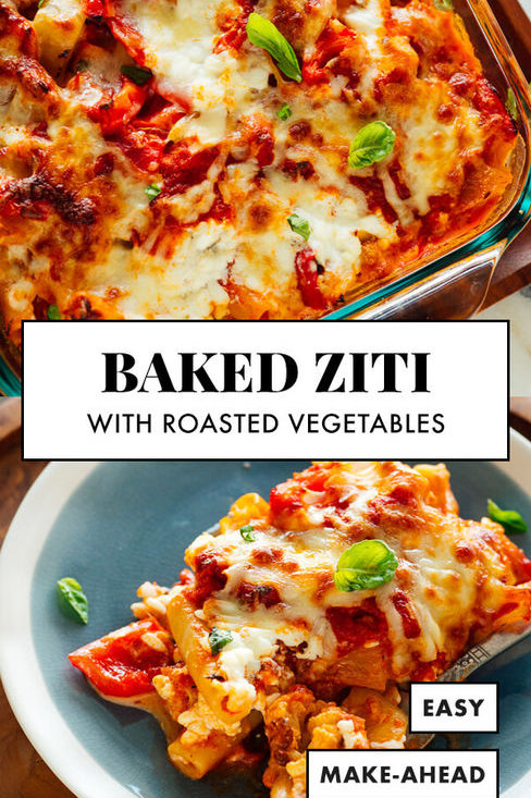 Baked Ziti with Roasted Vegetables