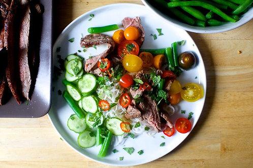 Garlic Lime Steak and Noodle Salad