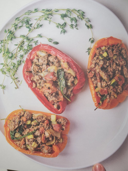 BISON-STUFFED BELL PEPPERS