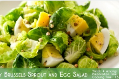 ZESTY BRUSSELS SPROUT AND EGG SALAD