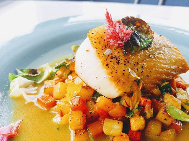 _thecottagebothell Black Cod, root vegetable hash, saffron fume. #instagood #chefsofinstagram #chefs