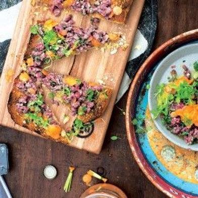 Flank Steak Tartare with Carrot-Top Salsa Verde