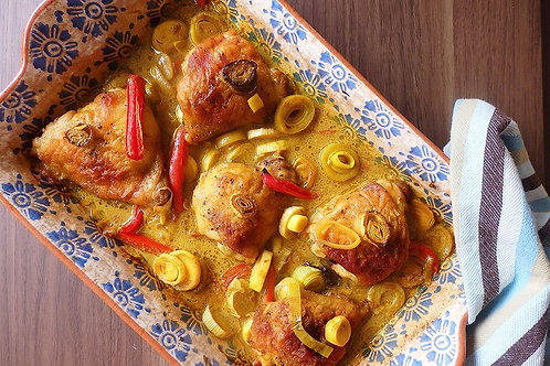 Golden Baked Chicken and Leeks