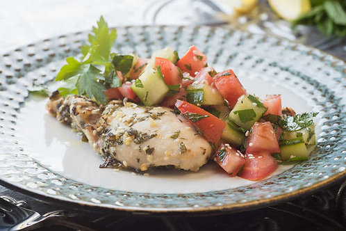 Middle Eastern herbed chicken with couscous salad