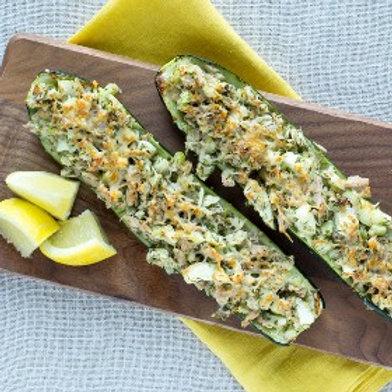 Roasted Zucchini Tuna Melts .