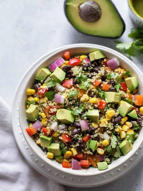 Chicken & Quinoa Salad with Avocado-Lime Dressing