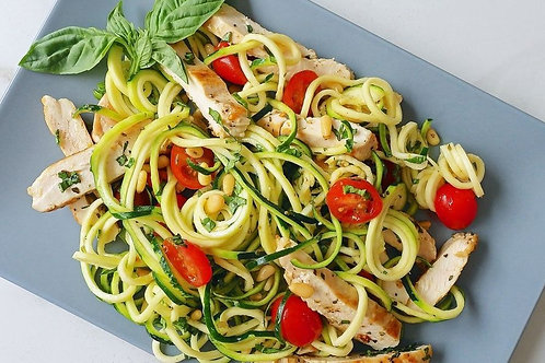 Chicken and Zucchini Noodle Salad