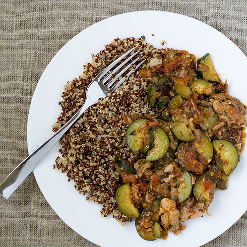 Moroccan Style Chicken with Zucchini & Quinoa