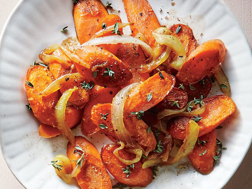 Sugar Frew Balsamic Onion and Thyme Carrots