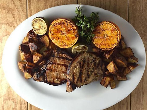 Grilled Pork Chops with Garlic Lime Mojo