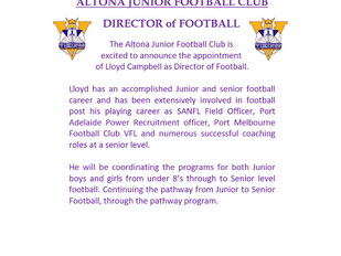 Announcement - Director of Football