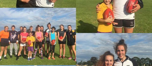 Jasmin Garner Meets AJFC Youth Girls