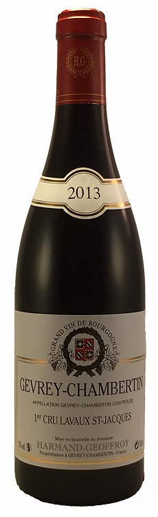 "GEVREY CHAMBERTIN 1er Cru "" LAVAUX SAINT-JACQUES "" 2013 Domaine HARMAND GEOFFROY"
