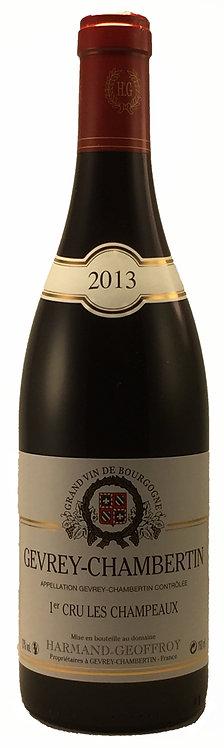 "GEVREY CHAMBERTIN 1er Cru "" CHAMPEAUX "" 2013 Domaine HARMAND GEOFFROY"