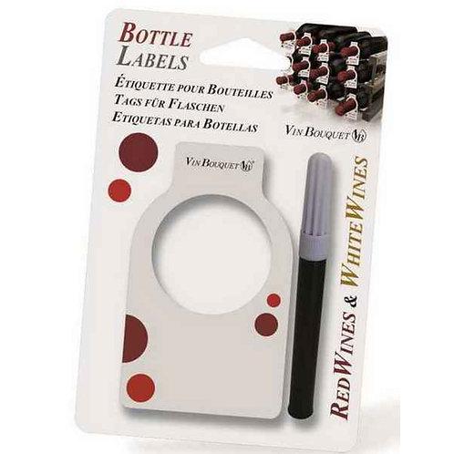 24 étiquettes pour bouteille avec marqueur