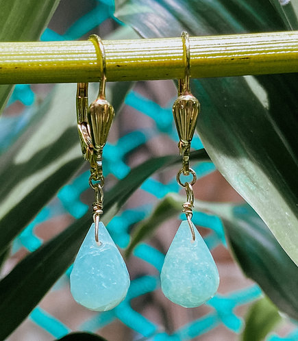 Milk Aquamarine Earrings