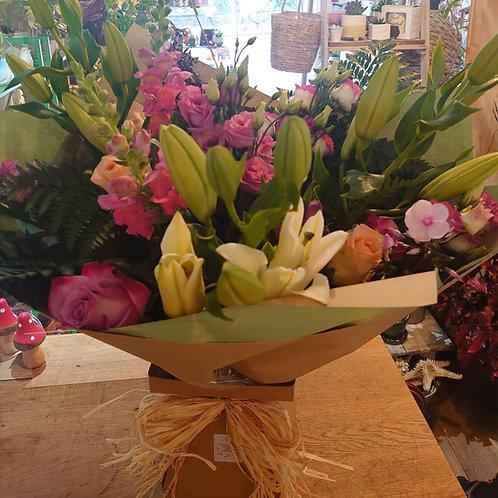 Florists choice premium hand tied bouquet.
