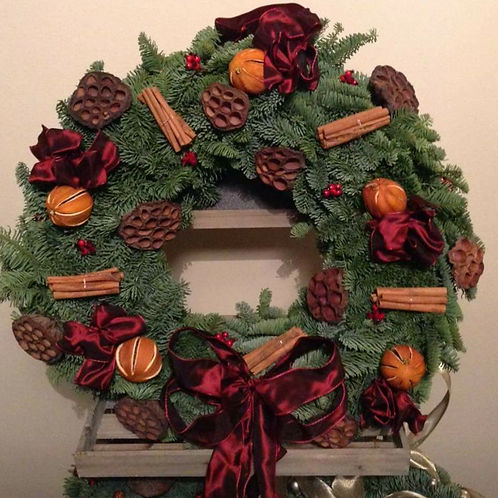 Traditional Spruce Door Wreath
