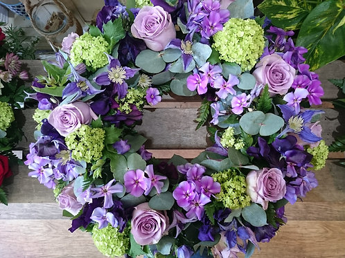 Wreath - Purple