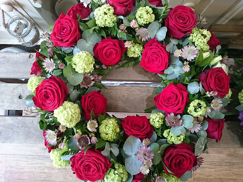 Wreath -Red Roses