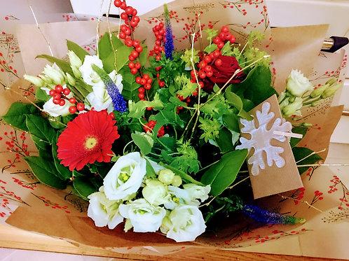 Festive Hand Tied Bouquet
