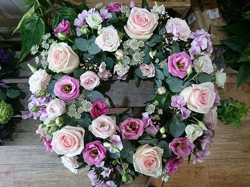 Wreath - soft pinks