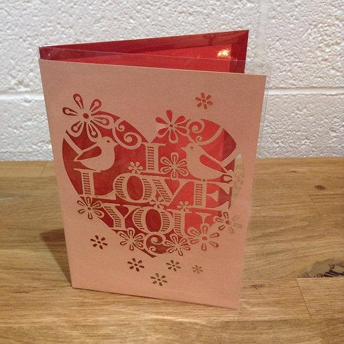 I love you card - Add on.