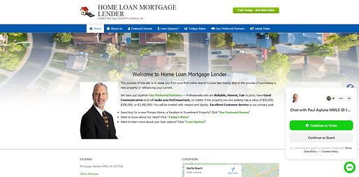 Image of Home Loan Mortgage Lender homepage