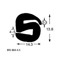 BRS 884-45 S Type Rubber