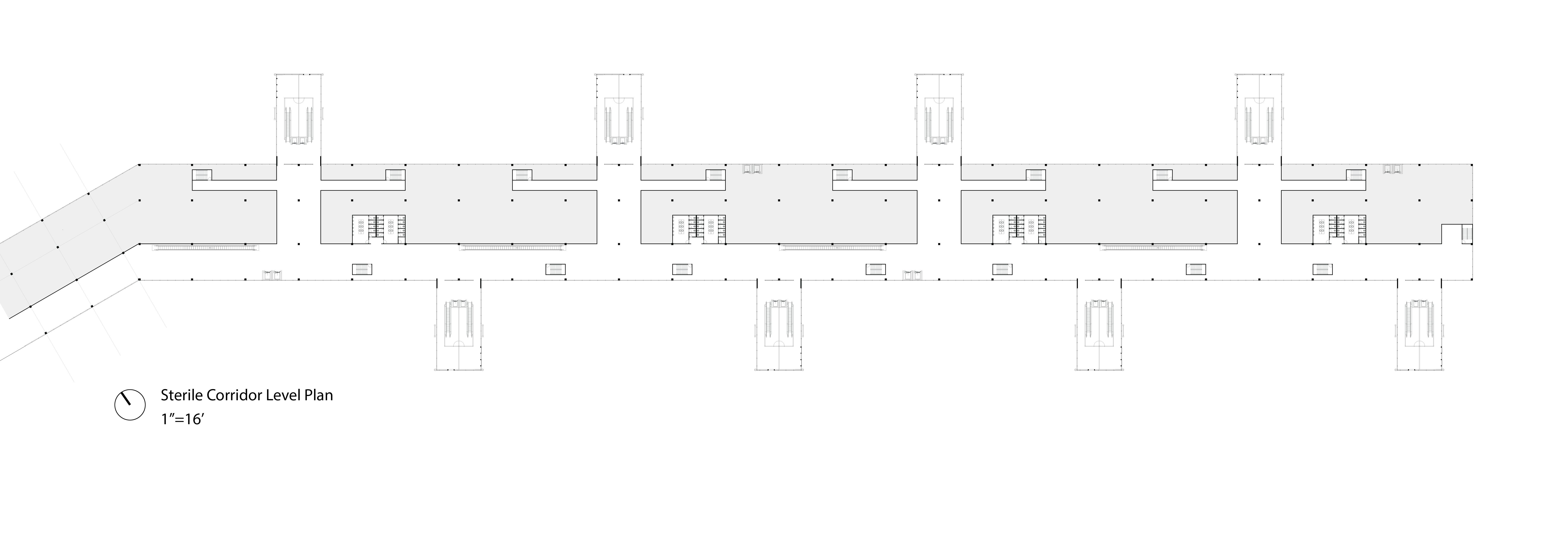 Sterile Corridor Level Plan