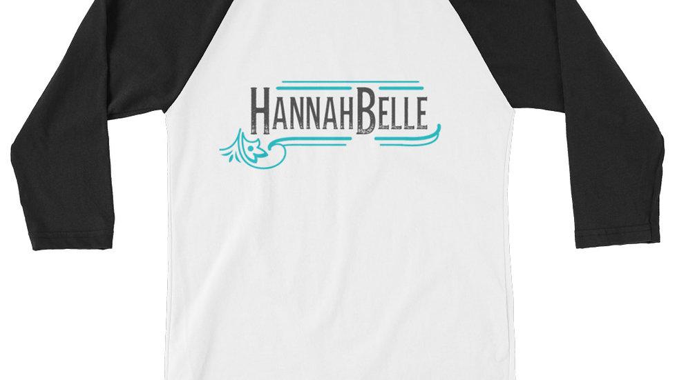 Hannah Belle Logo 3/4 sleeve raglan shirt