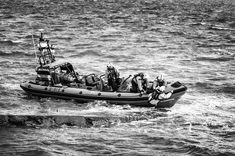 MONO - RNLI Man Overboard by Geradette McGuinness (12 marks)