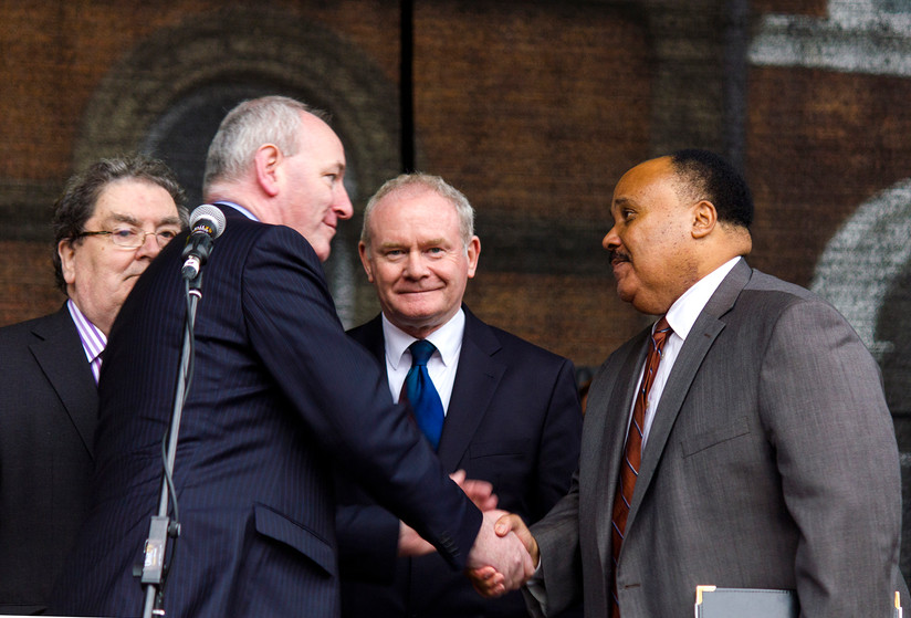 COLOUR - Meeting Martin Luther King 3rd by Monica McGuigan (8 marks)