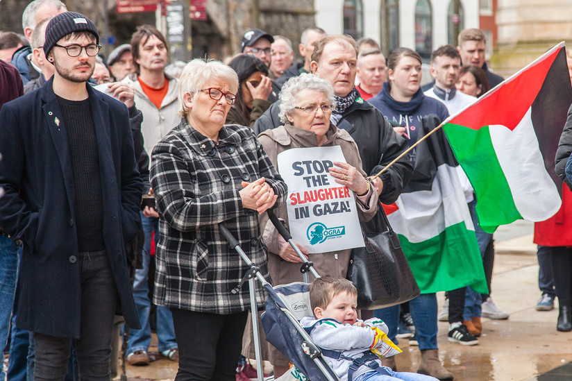 COLOUR - Gaza Protest by Phil Browse (8 marks)
