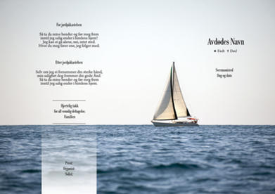 2124 Seilbåt på hav