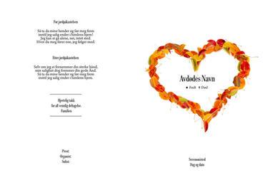 4164 Høstblader hjerte